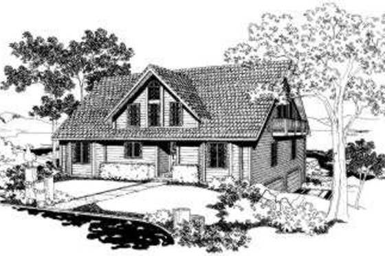 Traditional Exterior - Front Elevation Plan #303-116