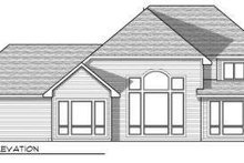 European Exterior - Rear Elevation Plan #70-734