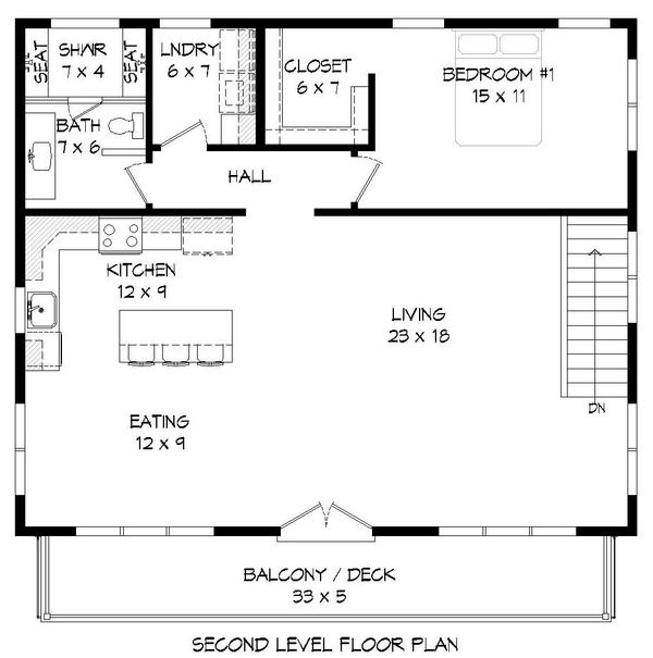 Contemporary Floor Plan - Main Floor Plan #932-113