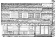 Country Style House Plan - 3 Beds 2 Baths 1673 Sq/Ft Plan #72-108 Exterior - Rear Elevation