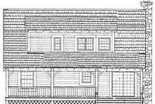 Country Exterior - Rear Elevation Plan #72-108