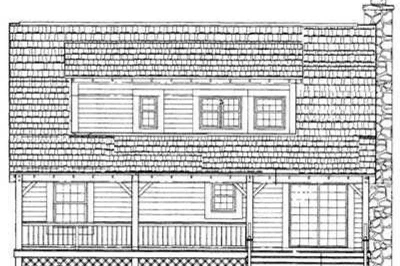 Country Exterior - Rear Elevation Plan #72-108 - Houseplans.com