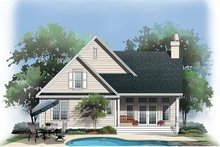 Home Plan - Country Exterior - Rear Elevation Plan #929-728
