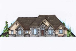 Traditional Exterior - Front Elevation Plan #5-322