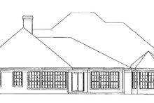 Colonial Exterior - Rear Elevation Plan #472-171