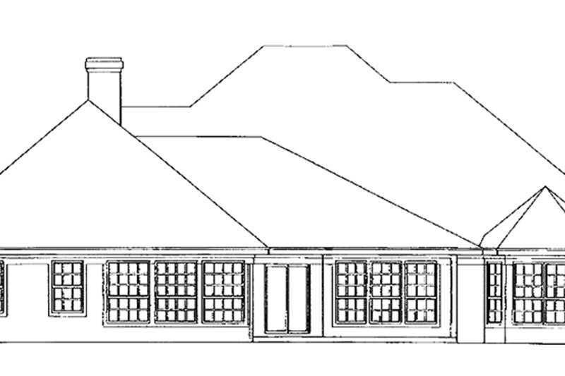 Colonial Exterior - Rear Elevation Plan #472-171 - Houseplans.com