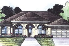 Architectural House Design - Mediterranean Exterior - Front Elevation Plan #417-803