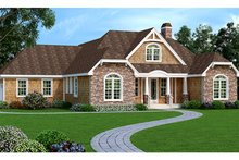 House Plan Design - European Exterior - Front Elevation Plan #456-116