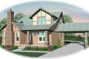 Craftsman Exterior - Front Elevation Plan #81-416