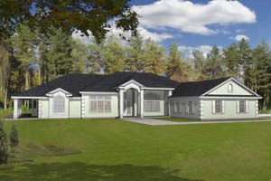 Country Exterior - Front Elevation Plan #1037-20