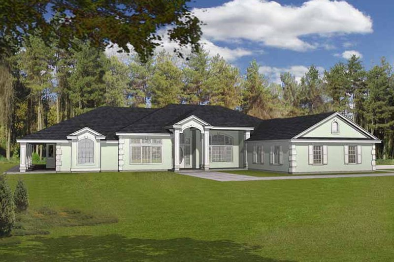 Country Exterior - Front Elevation Plan #1037-20 - Houseplans.com