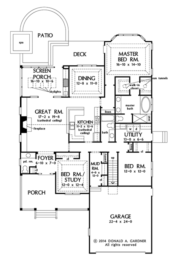 Ranch Floor Plan - Main Floor Plan Plan #929-991