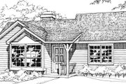 Ranch Style House Plan - 1 Beds 1 Baths 784 Sq/Ft Plan #320-324 Exterior - Front Elevation