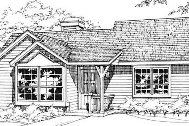 Ranch Style House Plan - 1 Beds 1 Baths 784 Sq/Ft Plan #320-324