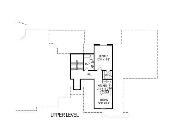 European Floor Plan - Upper Floor Plan Plan #920-113