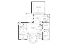 Mediterranean Floor Plan - Main Floor Plan Plan #1061-1