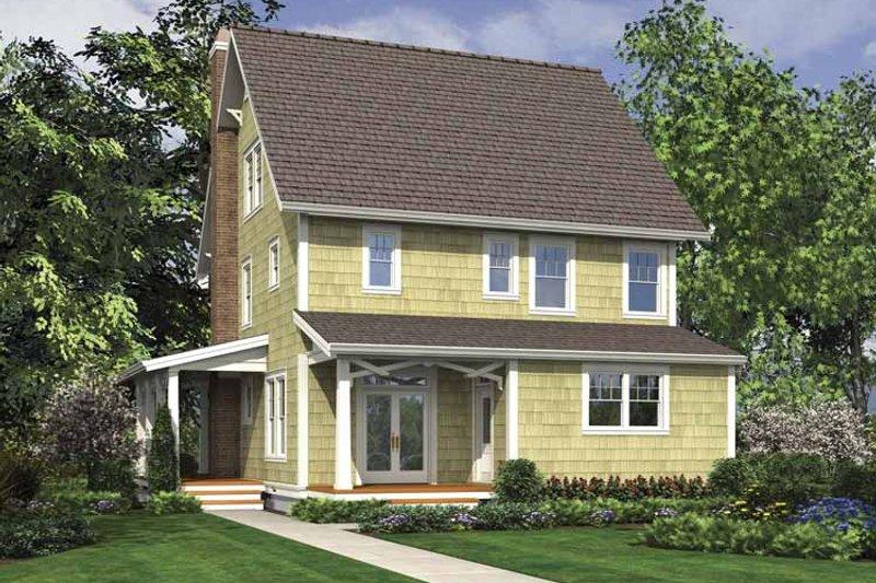 Country Exterior - Rear Elevation Plan #48-874 - Houseplans.com
