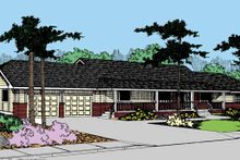House Plan Design - Country Exterior - Front Elevation Plan #60-840