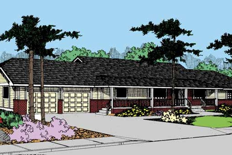 Country Exterior - Front Elevation Plan #60-840
