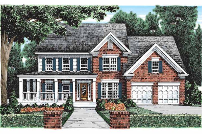 Country Exterior - Front Elevation Plan #927-80