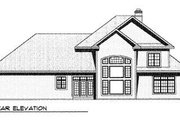 Traditional Style House Plan - 4 Beds 3.5 Baths 3325 Sq/Ft Plan #70-506 Exterior - Rear Elevation
