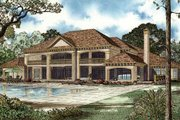Traditional Style House Plan - 4 Beds 5 Baths 8484 Sq/Ft Plan #17-2346 Exterior - Rear Elevation