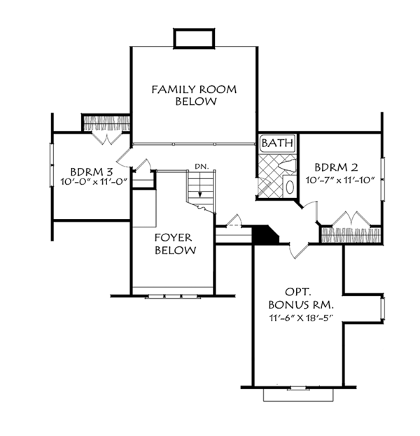 House Plan Design - Cottage Floor Plan - Upper Floor Plan #927-972