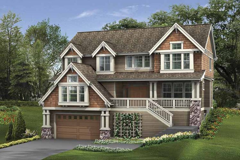 Craftsman Exterior - Front Elevation Plan #132-400
