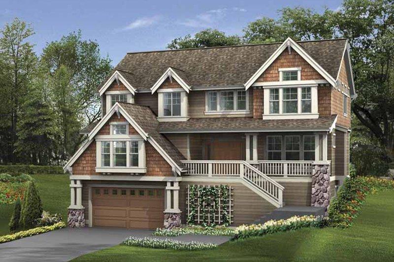 Home Plan - Craftsman Exterior - Front Elevation Plan #132-400