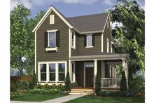 Country Exterior - Front Elevation Plan #48-866