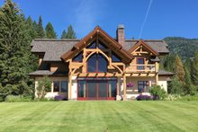 Home Plan - Log Exterior - Rear Elevation Plan #451-27