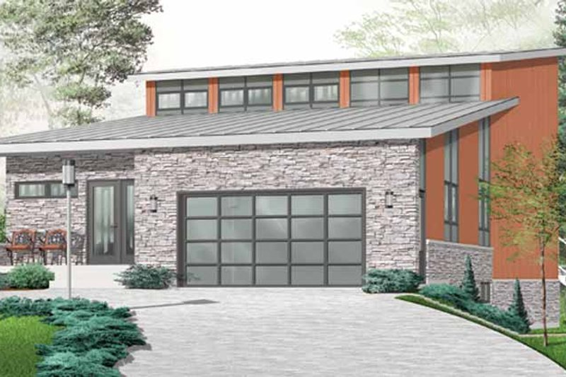 Contemporary Exterior - Front Elevation Plan #23-2460 - Houseplans.com