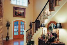 Architectural House Design - European Interior - Entry Plan #437-66