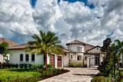 Mediterranean Style House Plan - 3 Beds 3.5 Baths 3433 Sq/Ft Plan #930-444 Exterior - Front Elevation