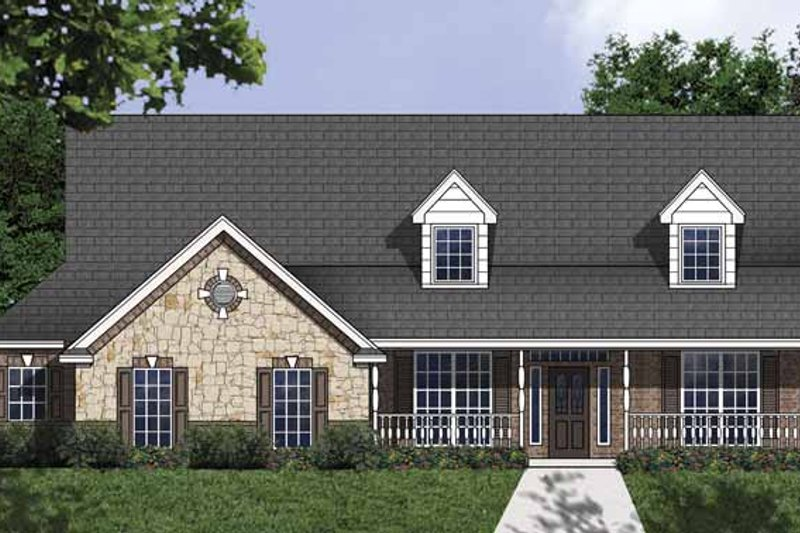 Dream House Plan - Country Exterior - Front Elevation Plan #62-154