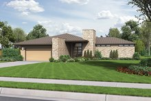 Dream House Plan - Contemporary Exterior - Front Elevation Plan #48-916