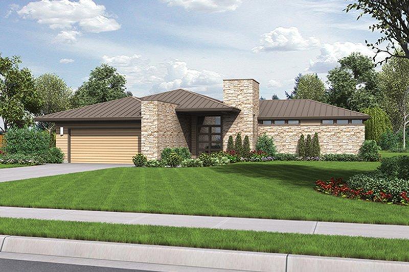 House Plan Design - Contemporary Exterior - Front Elevation Plan #48-916