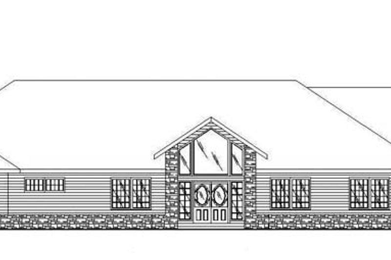 Ranch Exterior - Front Elevation Plan #117-866 - Houseplans.com