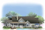 Craftsman Style House Plan - 4 Beds 3 Baths 2857 Sq/Ft Plan #929-887 Exterior - Rear Elevation