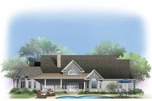 Craftsman Exterior - Rear Elevation Plan #929-887