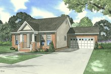 House Plan Design - Southern Exterior - Front Elevation Plan #17-2215