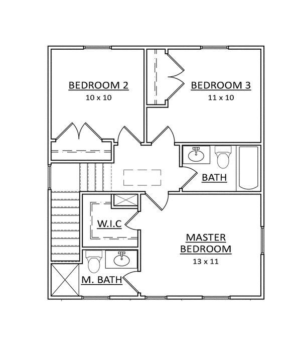 Craftsman Floor Plan - Upper Floor Plan Plan #936-20