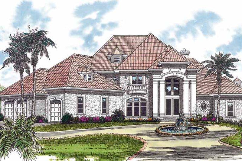 Dream House Plan - Mediterranean Exterior - Front Elevation Plan #453-324