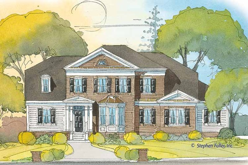Colonial Exterior - Front Elevation Plan #429-403 - Houseplans.com