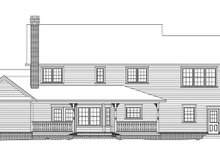 Country Exterior - Rear Elevation Plan #11-268