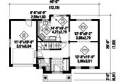 Classical Style House Plan - 3 Beds 1 Baths 1300 Sq/Ft Plan #25-4787 Floor Plan - Main Floor Plan