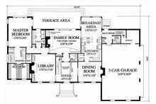 Southern Floor Plan - Main Floor Plan Plan #137-170