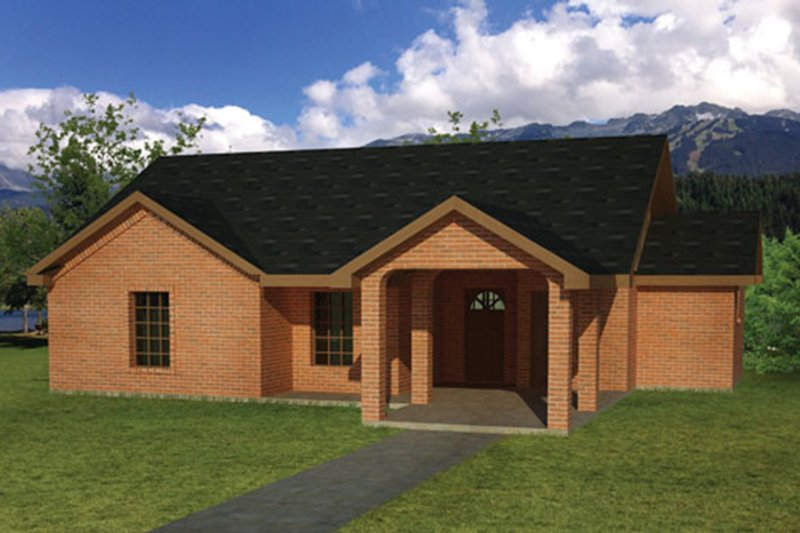 Ranch Exterior - Front Elevation Plan #1061-27 - Houseplans.com