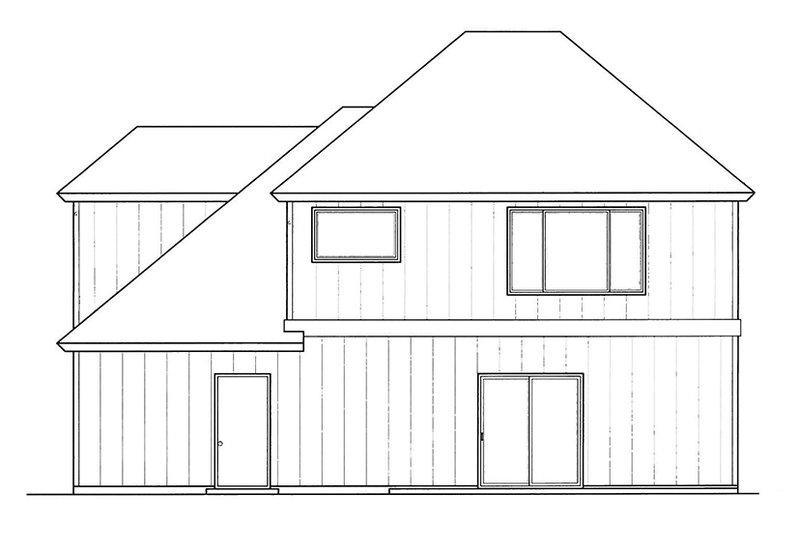 Country Exterior - Rear Elevation Plan #509-268 - Houseplans.com