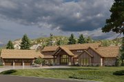 Craftsman Style House Plan - 4 Beds 5.5 Baths 6837 Sq/Ft Plan #923-179 Exterior - Front Elevation